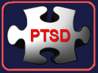 White Post Traumatic Stress Disorder puzzle piece thumbnail