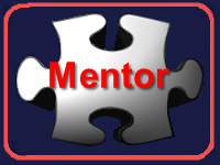 White Puzzle Piece Icon with Mentor