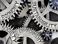Gears with Economy, Sustainability, Society, and Environment